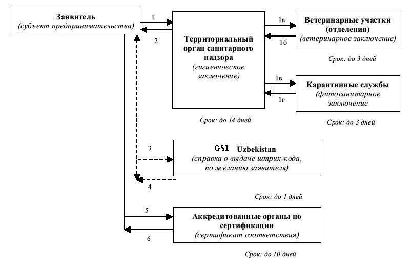Схема прохождения процедур по
